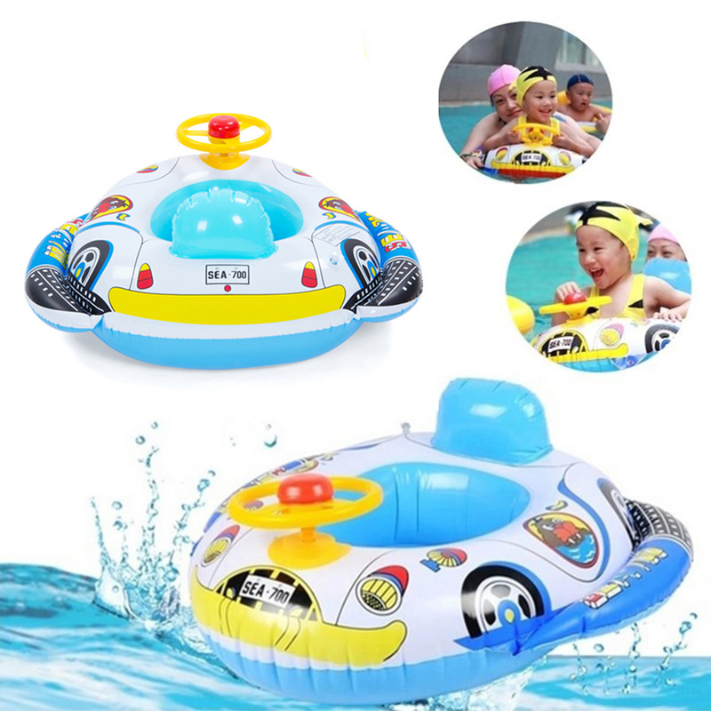 New Baby Float Inflatable Swim Ring Seat Support Pool Float Rubber ...