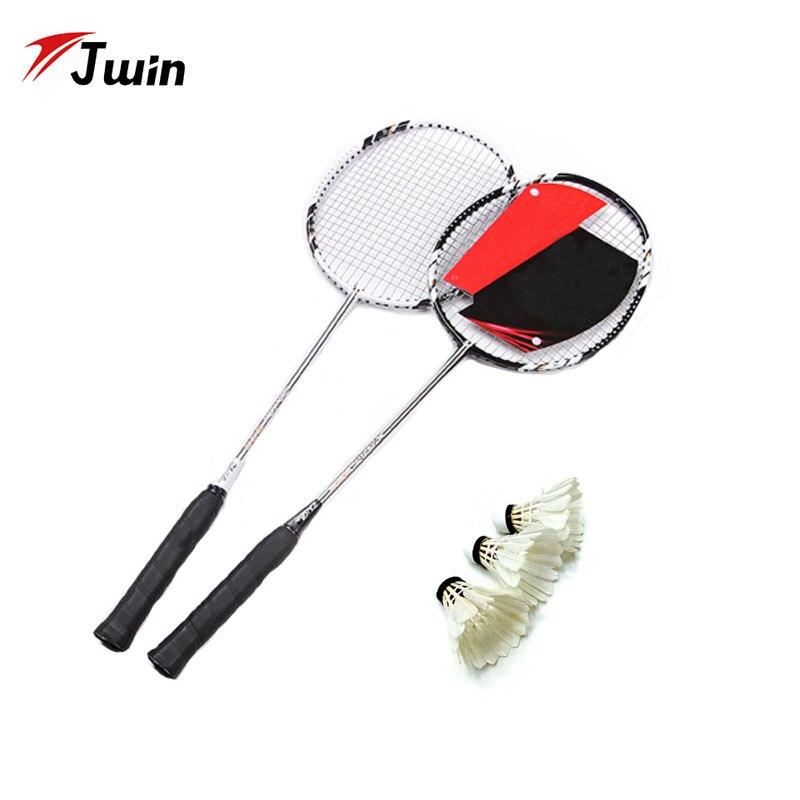 Raquette de Badminton en Fiber de carbone raquette professionnelle en Graphite la plus légère avec ficelle pour amoureux et amis