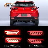 OKEEN 2PCS Car Styling LED Rear Bumper Reflector Light For Mazda Cx 3 2016 2017 LED