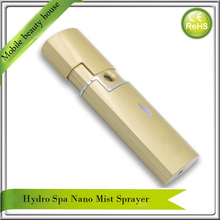 Portable USB Rechargeable Ionic Nano Face Mister Handy Mist Spray Facial Sauna Steamer Eyelash Extension Free Shipping