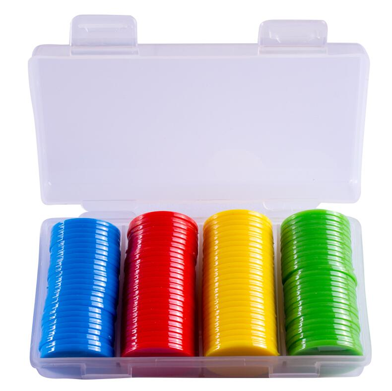 100Pcs Plastic Poker Chips Casino Bingo Markers For Fun Family Club Carnival Bingo Game Supplies 25mm 9 Colors