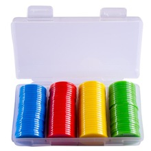 Poker-Chips Bingo-Markers Casino Plastic 100pcs for Fun Family Club Carnival 25mm 9-Colors