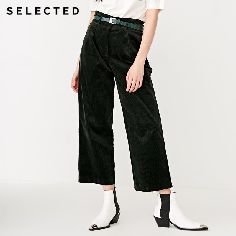 SELEZIONATO Velluto A Coste delle Donne Loose Fit Wide gamba Pantaloni Colture S  418414510-in Pantaloni e pinocchietto da Abbigliamento da donna su  Gruppo 1