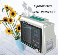Оптовая продажа CONTEC монитор пациента CMS6000, 6 параметров, SPO2, pr, например, НИАД, темп, RESP + принтер медицинского оборудования машины