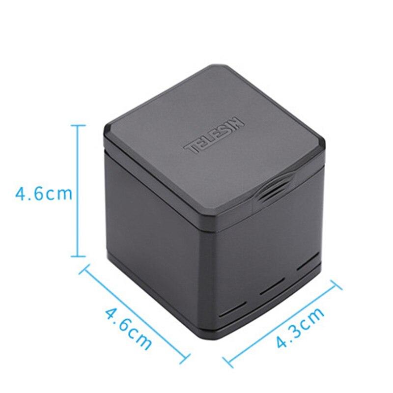 3 emplacements USB Chargeur De Batterie De Stockage Boîte De Recharge + 2 pièces Batterie pour GoPro Hero 6/5 Batterie DJA99