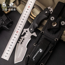 HX OUTDOORS Tactical Straight Knife 440C Titanium Coated Blade G10 Handle Fixed Blade Knives Multi Camping Hunting EDC Tools dicoria 2016 scout d2 blade g10 handle fixed blade hunting straight knife kydex sheath camp survival outdoors edc knives tools