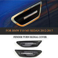 Dry Carbon Car Air Flow Side Fender Vents Mesh Hole Grille Trims for BMW 5 series F10 M5 Sedan 4 Door 2012 2017