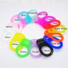 цены на Chenkai 100pcs Transparent Silicone Pacifier Rings DIY Clear Silicone Baby Mam NUK Dummy Teether Adapter O Rings Toy Accessories  в интернет-магазинах