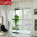 New Arrival Tulle Curtain For Living Room/ Home  Sheer/ Voile /Thin Curtains White Yellow Dark Brown/Coffee Lace  Transparent