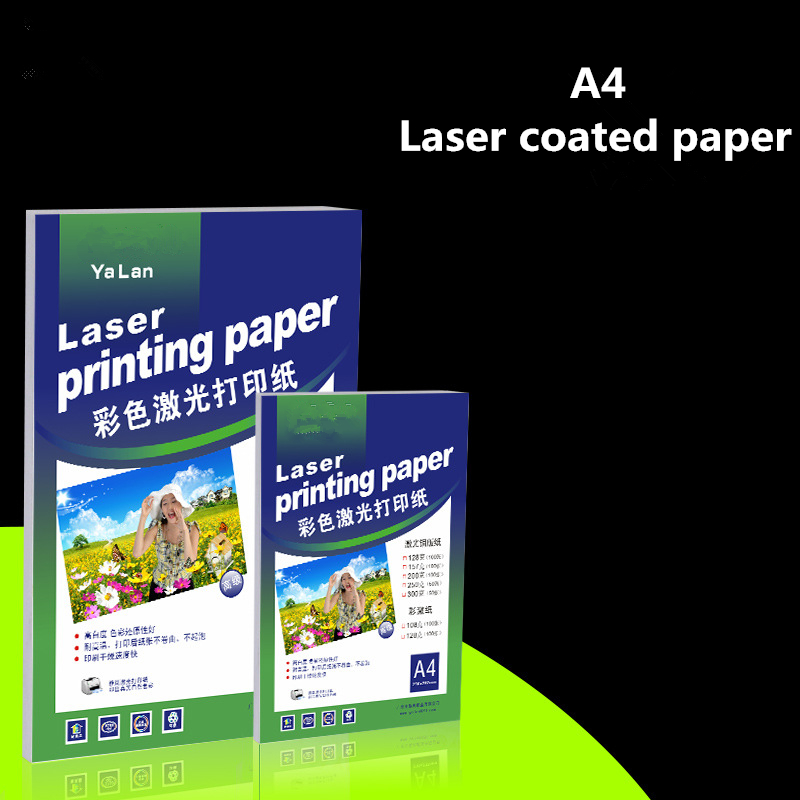Wholesale 157GSM Double Sided Laser Coated Paper A4 Printing Paper 300g Digital Color Coated Paper For Laser Printer 60 sheets a4 matt synthetic paper label scratch resistance after printing waterproof tear resistance for laser printer