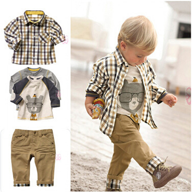 Children Boy Clothing Sets Handsome Child Boys Clothes 3: ActhInK New Design Baby Boys European Style 3Pcs Clothing