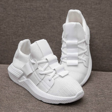 Spring new fashion women sneakers Breathable Mesh (Air mesh)  lightweight offwhite and black casual walking shoes JINBEILE