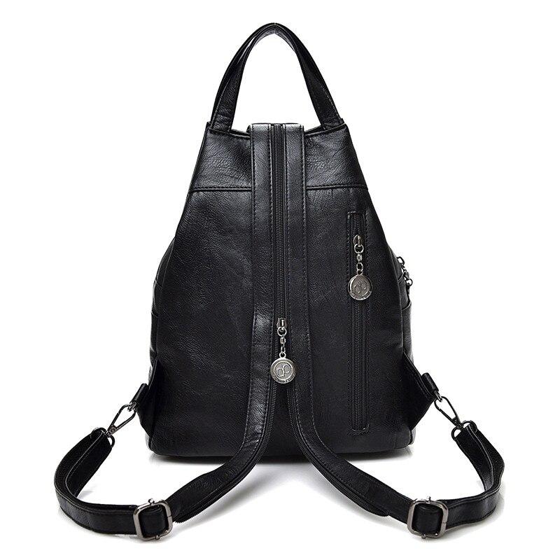 Fashion Leisure Women Backpacks Women's Pu Leather Backpacks Female School Shoulder Bags For Teenage Girls Travel Back Pack #4
