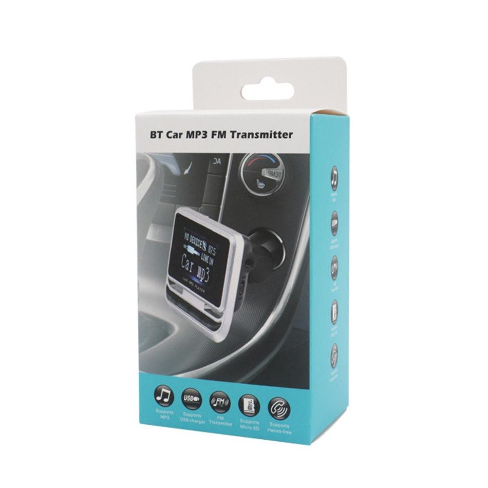 ЖК беспроводной радио адаптер громкой связи fm-адаптер умный автомобильный комплект Автомобильный fm-передатчик портативный автомобильный fm-передатчик