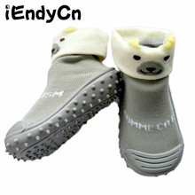 kidadndy Baby Socks with Rubber Soles Floor Sock with Animal Socks Non-slip Bottom Lightweight Cotton Girl Boy Sock YD499 цены онлайн