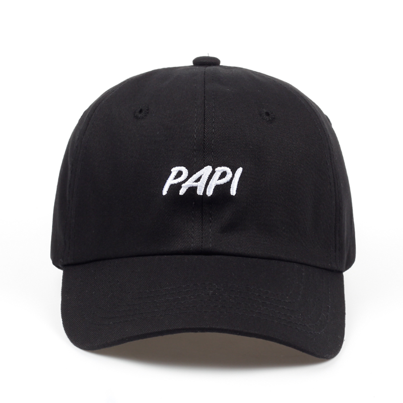 2018 new PAPI Letter DAD HAT men women fashion Adjustable   BASEBALL     CAP   UNSTRUCTURED wholesale