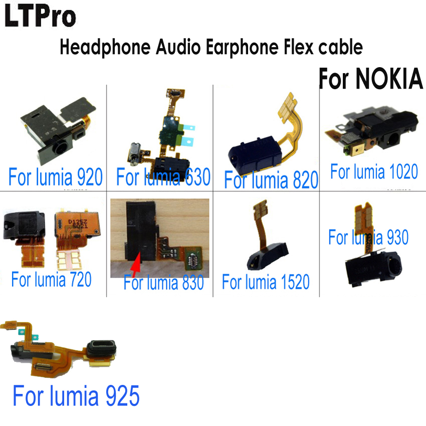 High Quality Headset Earphone Headphone Audio jack Flex Cable For Nokia Lumia 920/630/820/1020/720/830/1520/930/925 Phone Parts
