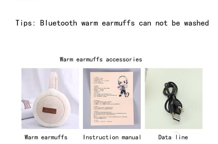 2018New Fashion Wireless Bluetooth Headset Headphones Music Warm Earmuff