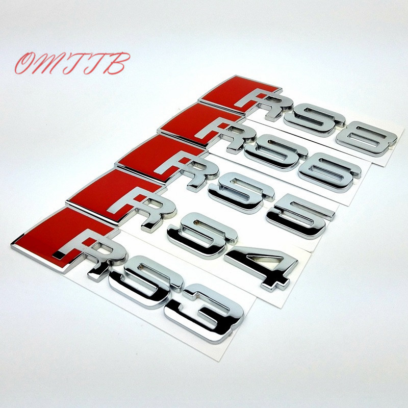 3D Metal RS3 RS4 RS5 RS6 RS8 Emblems badges Car Sticker for Audi S3 S4 S5 S6 S8 A3 A4 A5 A6 A7 A8 R8 TT Car Badges car styling