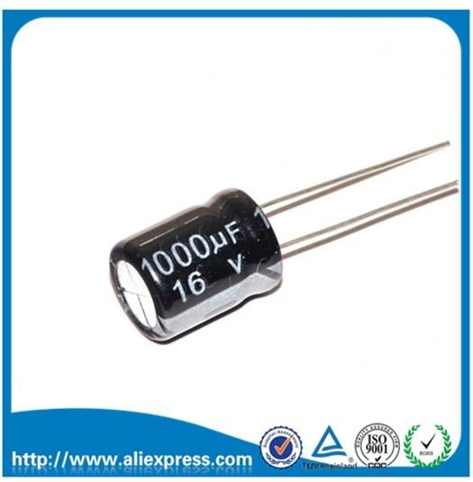 """20 יחידות 1000 UF 16 V 16 V גודל 8*16 מ""""מ אלומיניום אלקטרוליטי קבלים 1000 UF 16 V/1000 UF קבל אלקטרוליטי"""