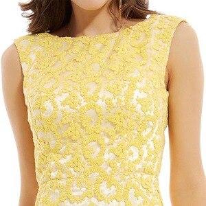 Image 4 - Dressv 수선화 긴 이브닝 드레스 저렴한 특종 목 appliques backless 라인 웨딩 파티 공식 드레스 이브닝 드레스