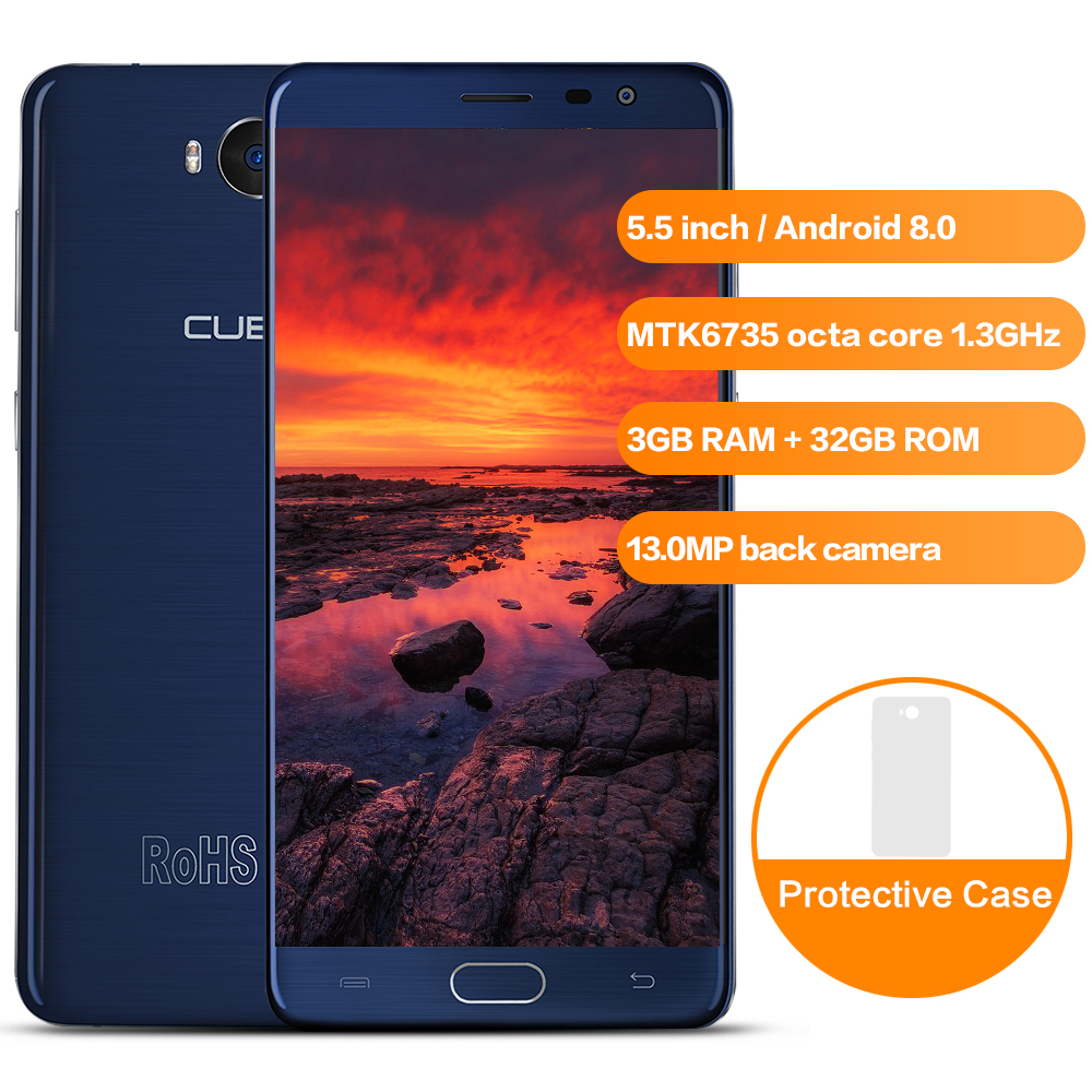 CUBOT A5 4G Phablet 5.5 inch MTK6735 Octa Core 3GB RAM 32GB ROM Smartphone Mobile Phone Front Fingerprint