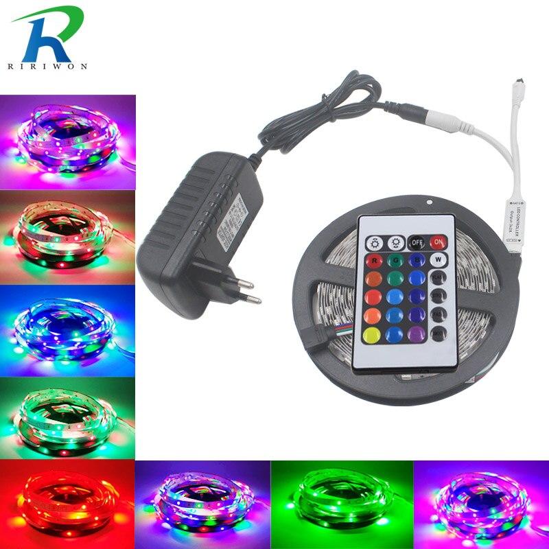 5 mt 10 mt 2835 Led-streifen Keine Wasserdichte RGB led Streifen Licht Flexible SMD 3528 DC12V RGB Beleuchtung für IR 24 tasten Fernbedienung