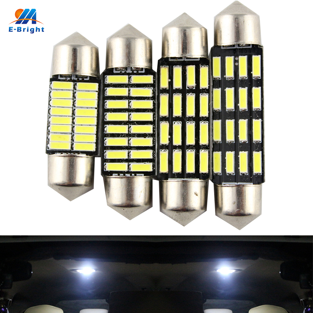 YM E Bright 100 PCS C5W Led 4014 16 SMD 16 Leds Interior Lights 31mm 36mm