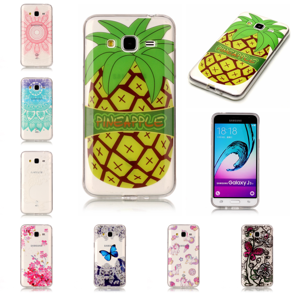 New Pretty Best Thin Silicone TPU Soft Ultra Etui Carcasa Phone Mobile Cover Case For Sansung <font><b>Samsug</b></font> Galaxy <font><b>J3</b></font> <font><b>2016</b></font> image