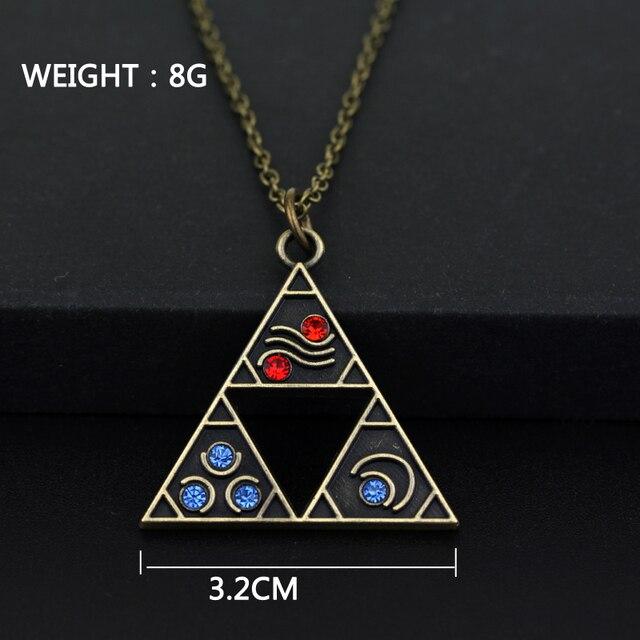The Legend of Zelda Triforce Necklace Triangle Otaku Pendant