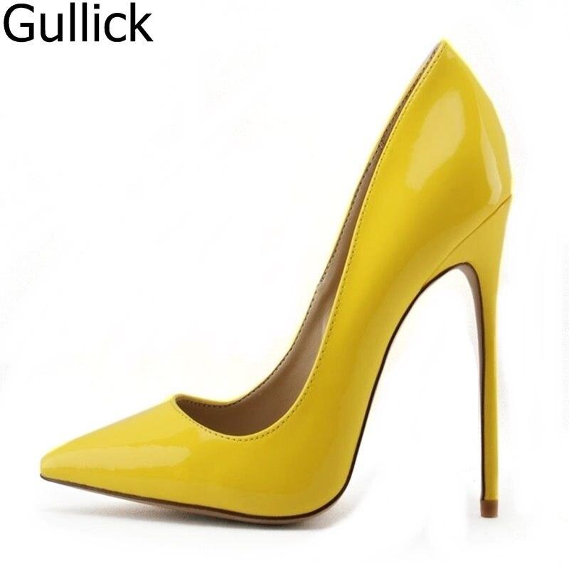 Purple high heels exclusive patent brand fashion pointer