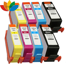 8pcs Compatible hp 364 xl ink cartridge for hp Photosmart Premium e-All-In-One C310a C410a Printer