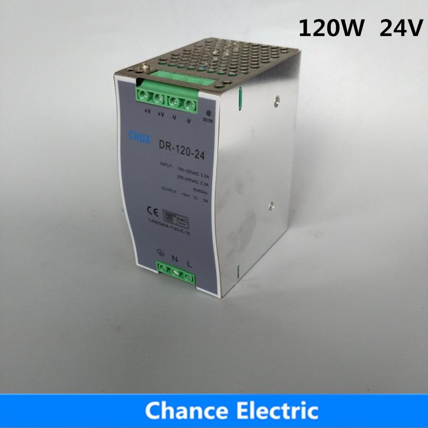 все цены на DR-120-24 24v 120w 5A For Led Light Din Rail Switching Power Supply онлайн