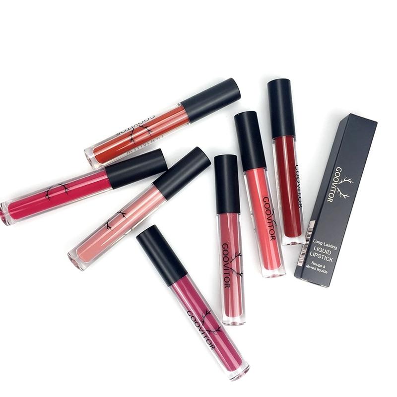 Matte Lip Gloss Long Lasting Waterproof Non-Stick Cup Velvet Lip Gloss Liquid Lipstick 4