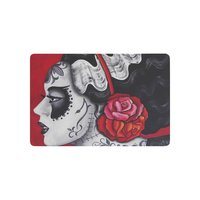 Floral Skull Anti Slip Door Mat Home Decor Day Of Death Sugar Skull Indoor Outdoor Entrance