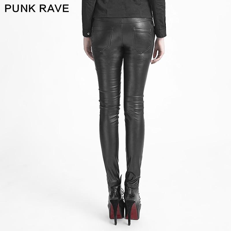 Casual Flaco Mujeres Gothic Leggings Botón Punk Correa K Rave 229 Cuero Sólido De Pantalones nxpng0wYq