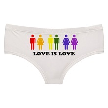 LEIMOLIS love is love white funny print sexy hot panties female kawaii Lovely underwear push up briefs women lingerie thongs напольные весы hitt ht 6101