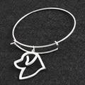 No Fade Silver Newfoundland DIY Openning Bracelet Bangle Femme Pulseras Mujer Pet/Dog Bracelets & Bangles for Women/Men Jewelry