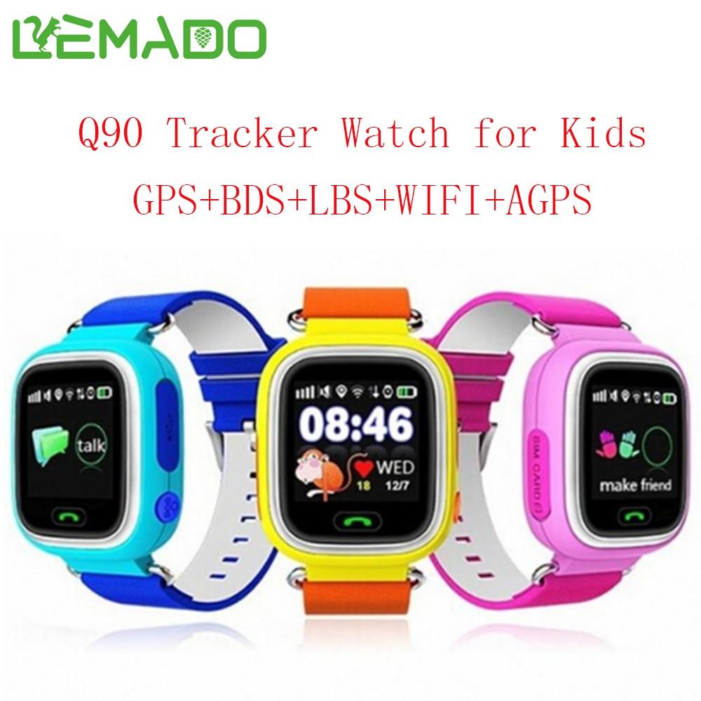 imágenes para Lemado Q90 GPS reloj inteligente bebé reloj con pantalla táctil Wifi Dispositivo de Localización de Llamadas SOS Perseguidor Anti-perdida Monitor pk Q80