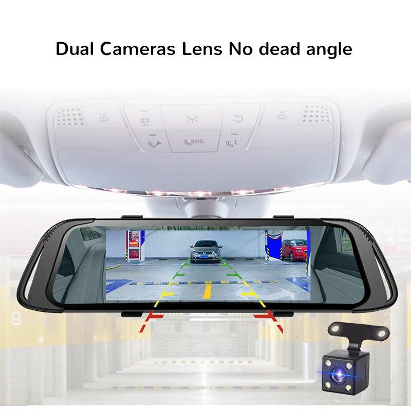 E ACE 7.0 Inch Touch Car DVR Mirror FHD 1080P Video Recorder Auto Registrator Dash Camera Dual Lens with Rear View Camera-in DVR/Dash Camera from Automobiles & Motorcycles    3