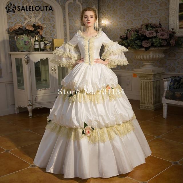 Heißer Verkauf Weiß Palace Rokoko Barock Marie Antoinette Party ...