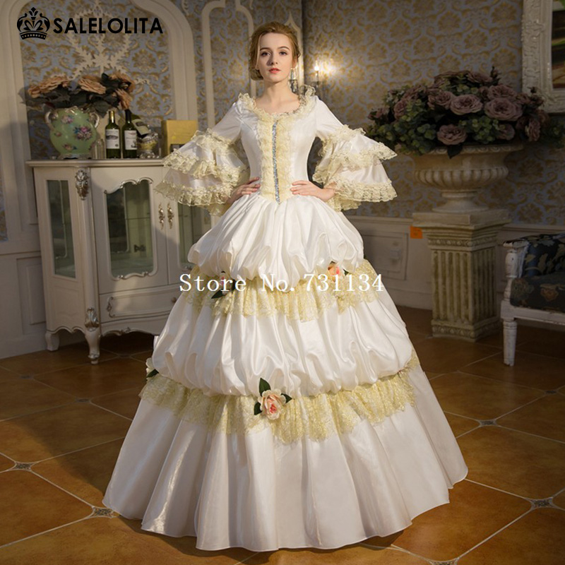 Buy hot sale white palace rococo baroque for Marie antoinette wedding dress