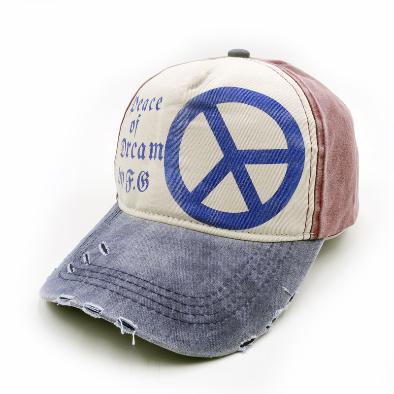 New arrival high quality snapback cap demin baseball cap 6 color Peace sign embroidery h ...