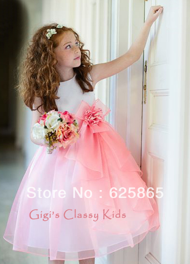 8080e65a056 New White Coral Flower Girls Dress-in Flower Girl Dresses from ...