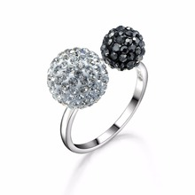 Dormith 925 Sterling Silver with Cubic Zirconia Engagement Rings for Women Size Can Be Adjustable