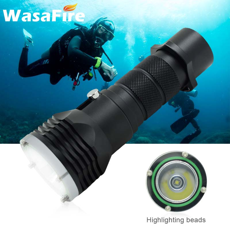 XM-L L2 LED Diving Flashlight Super Bright Scuba Dive Torch Perfessional Underwater 100m Waterproof Lantern Powerful 26650 Lamp