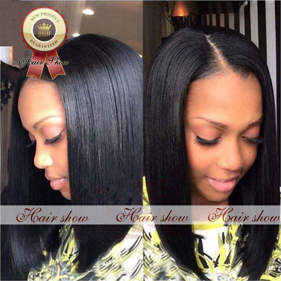 Short Bob Style Full Lace Human Hair Brazilian Vigin Human Hair