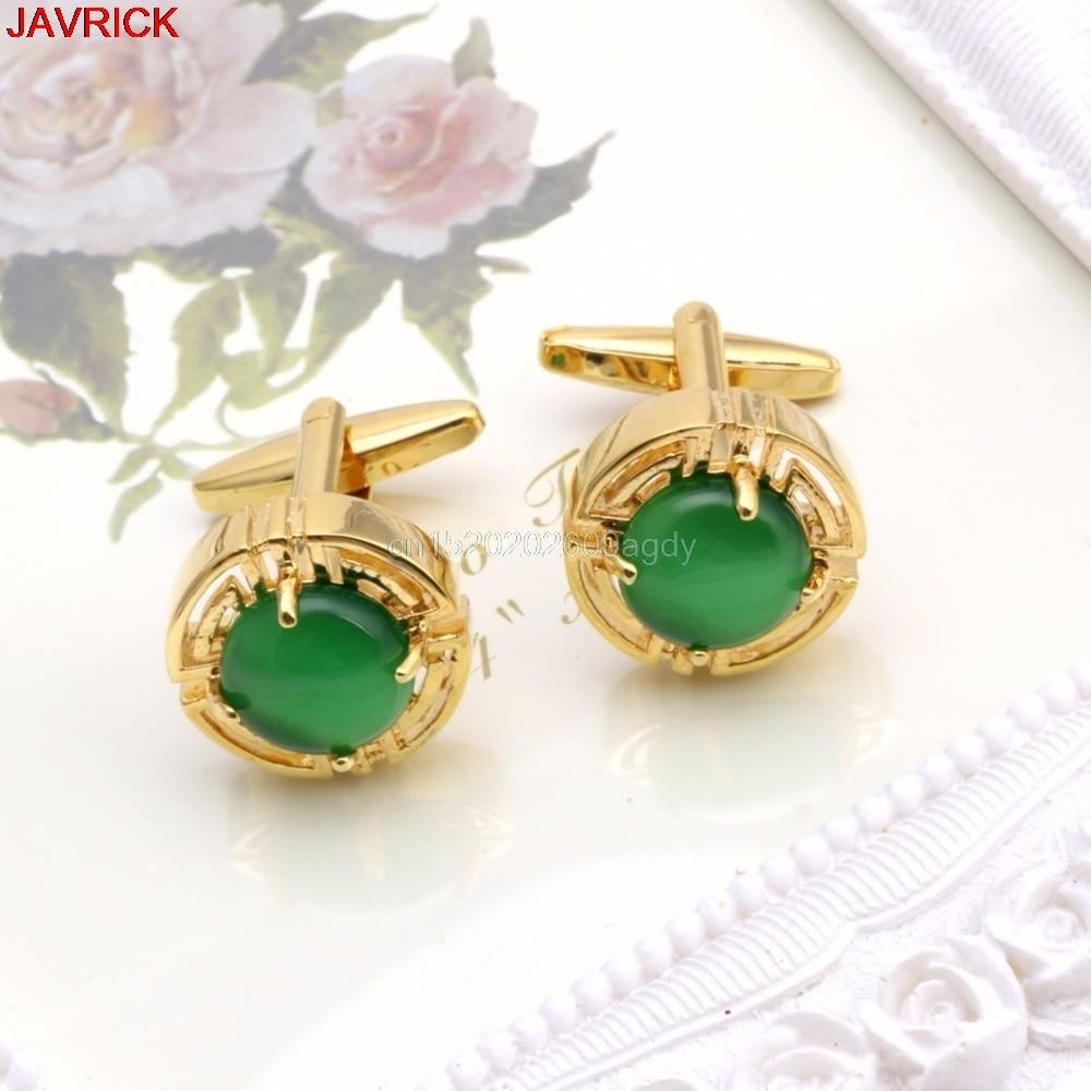 Vintage Green Opal Stone Shirt Cuff Links Cufflinks Mens Wedding ...