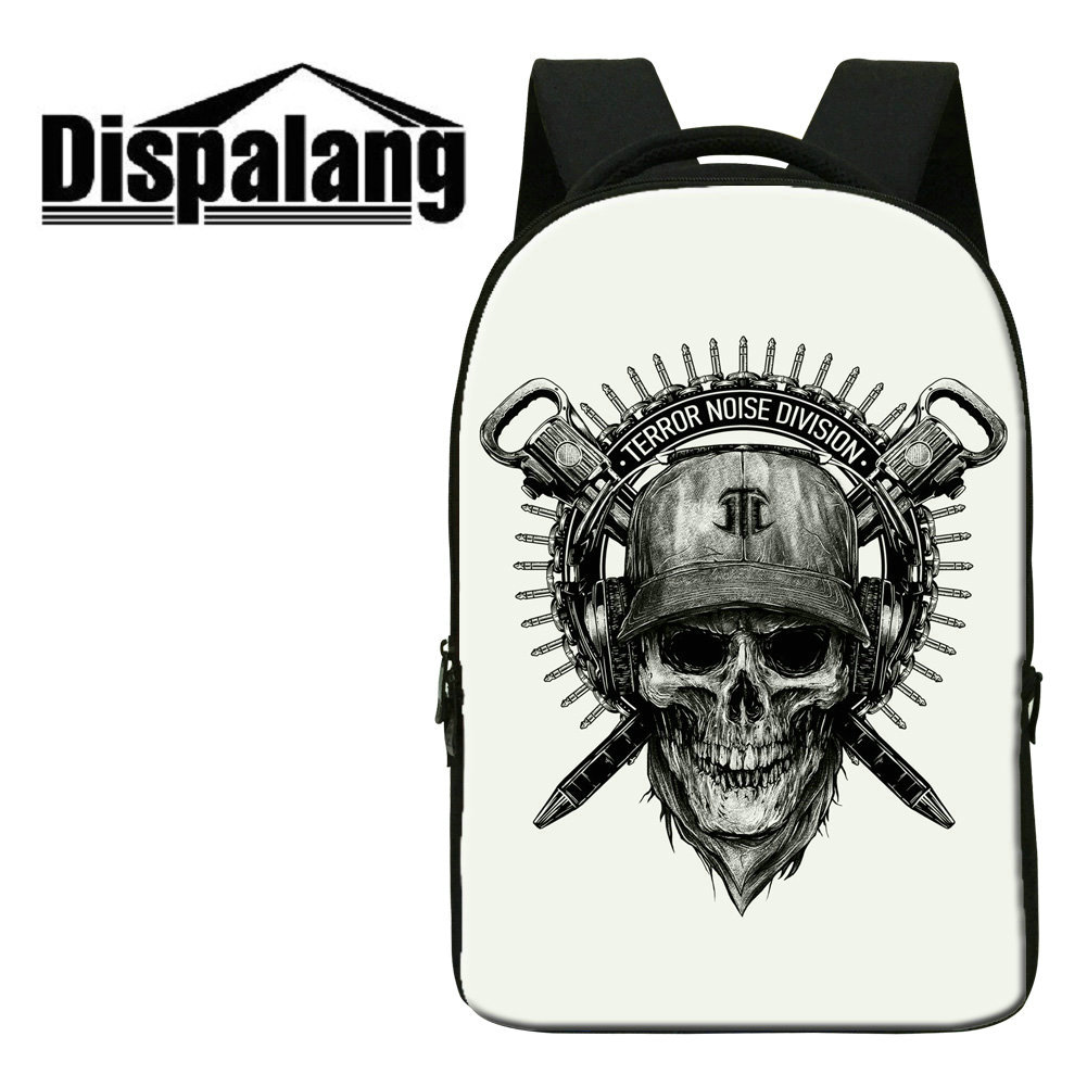 dispalang personalized zombie print schoolbags for teenage boys punk design notebook laptop bags 3d skull mens - Zombie Pictures To Print
