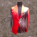 Customize the bigger sizes suit men dress suit The groom suit bust sequined dress Singer groom costumes